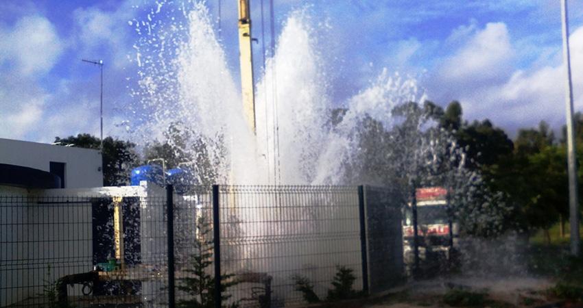 Sondalis - Furos de água